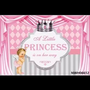 Princess ,prince banner 5x3ft for baby shower